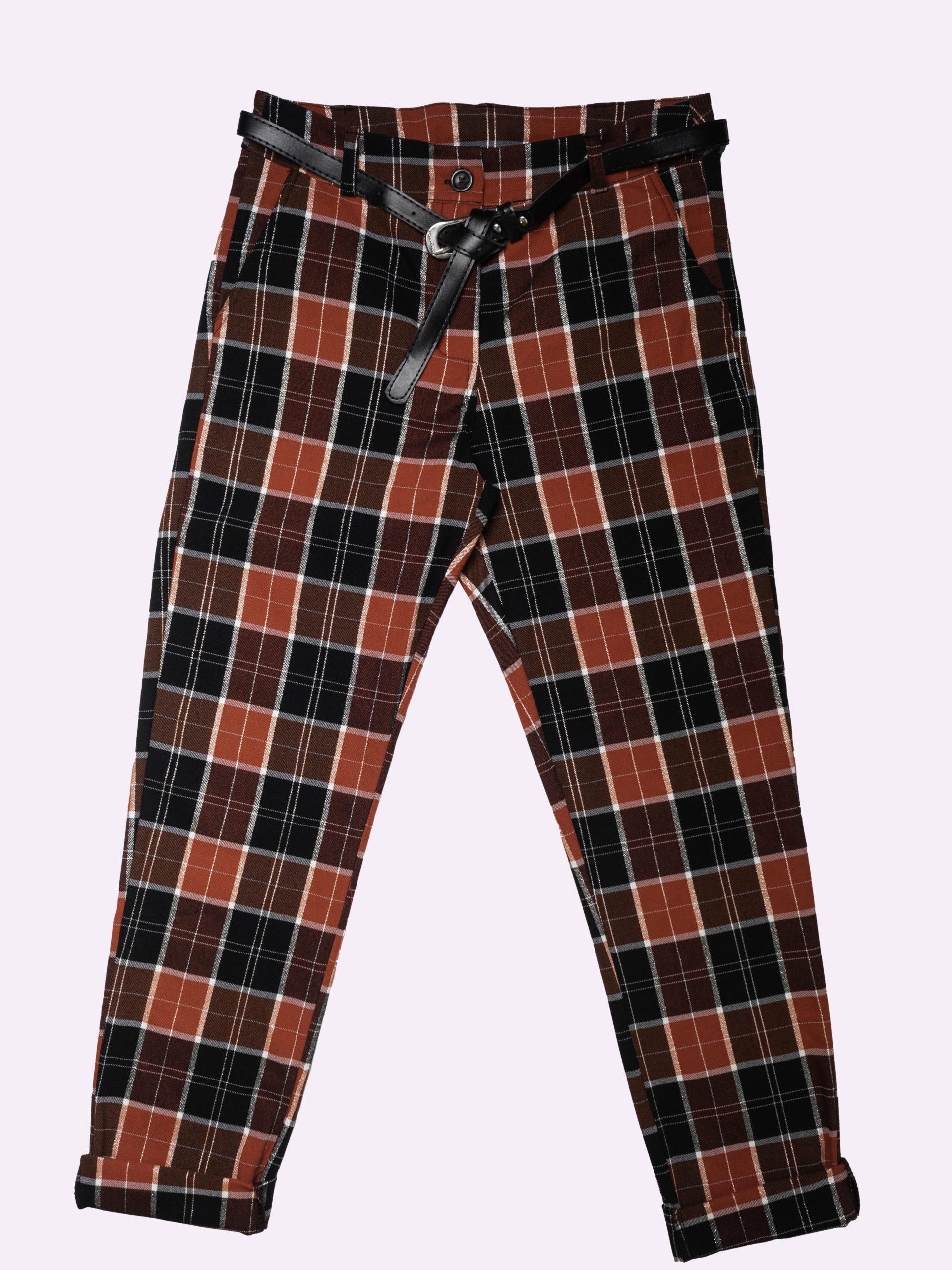F2918 Pantalone A Quadri