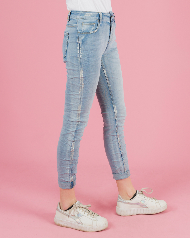 Jeans effetto stropicciato