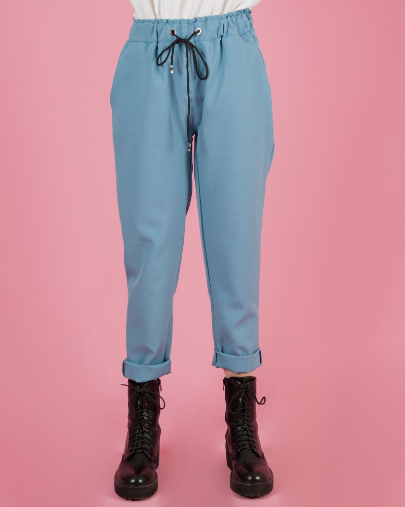 Pantaloni Casual Con Elastico In Vita
