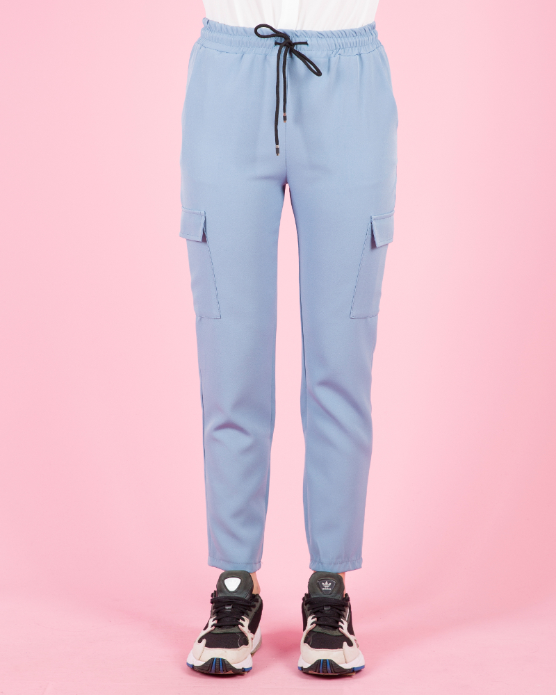 Pantaloni casual elasticizzati in vita