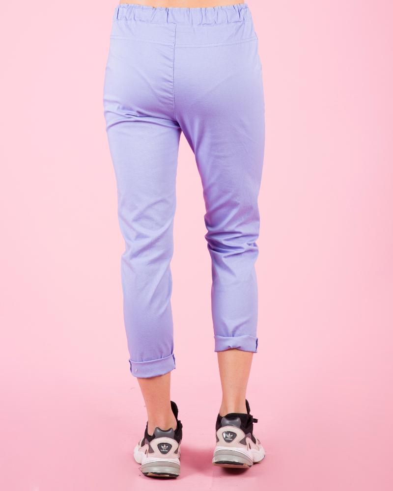 Pantaloni classici elasticizzati a vita