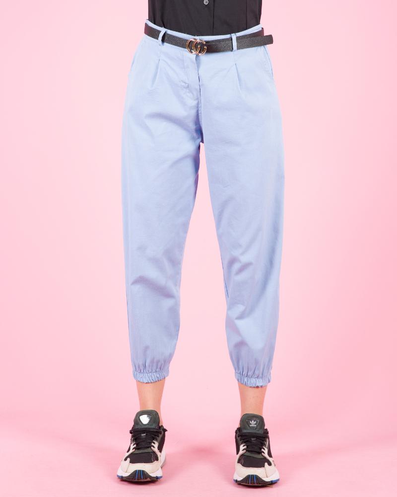 Pantaloni casual con cintura a vita