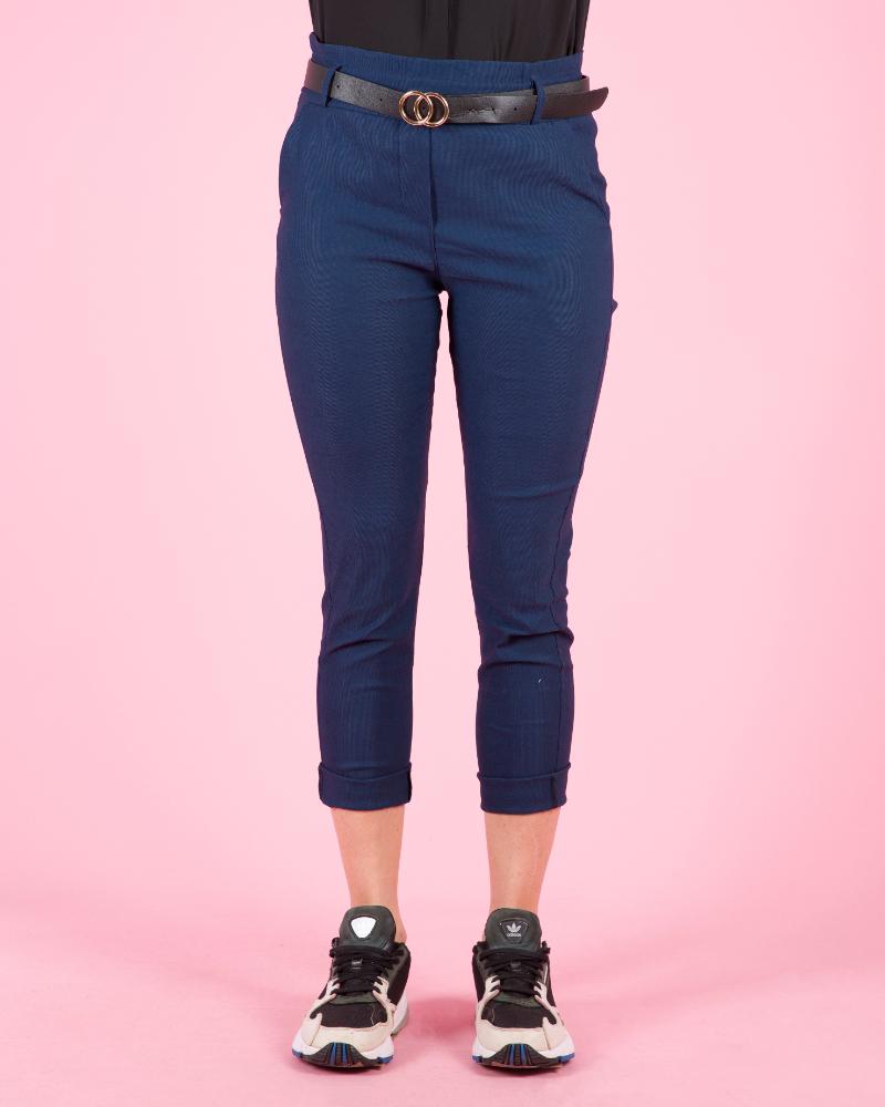 Pantaloni Con Cintura A Vita