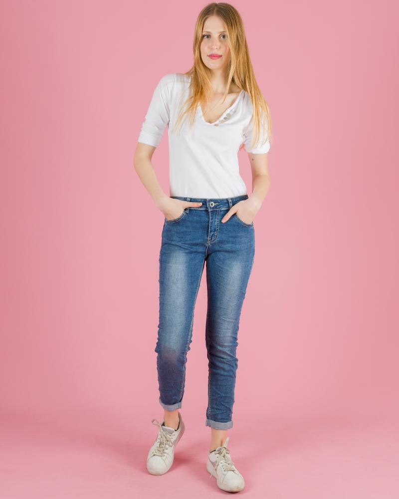 jeans stretto effetto stropicciato