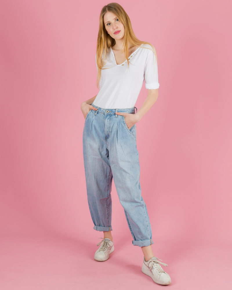 jeans chiaro largo