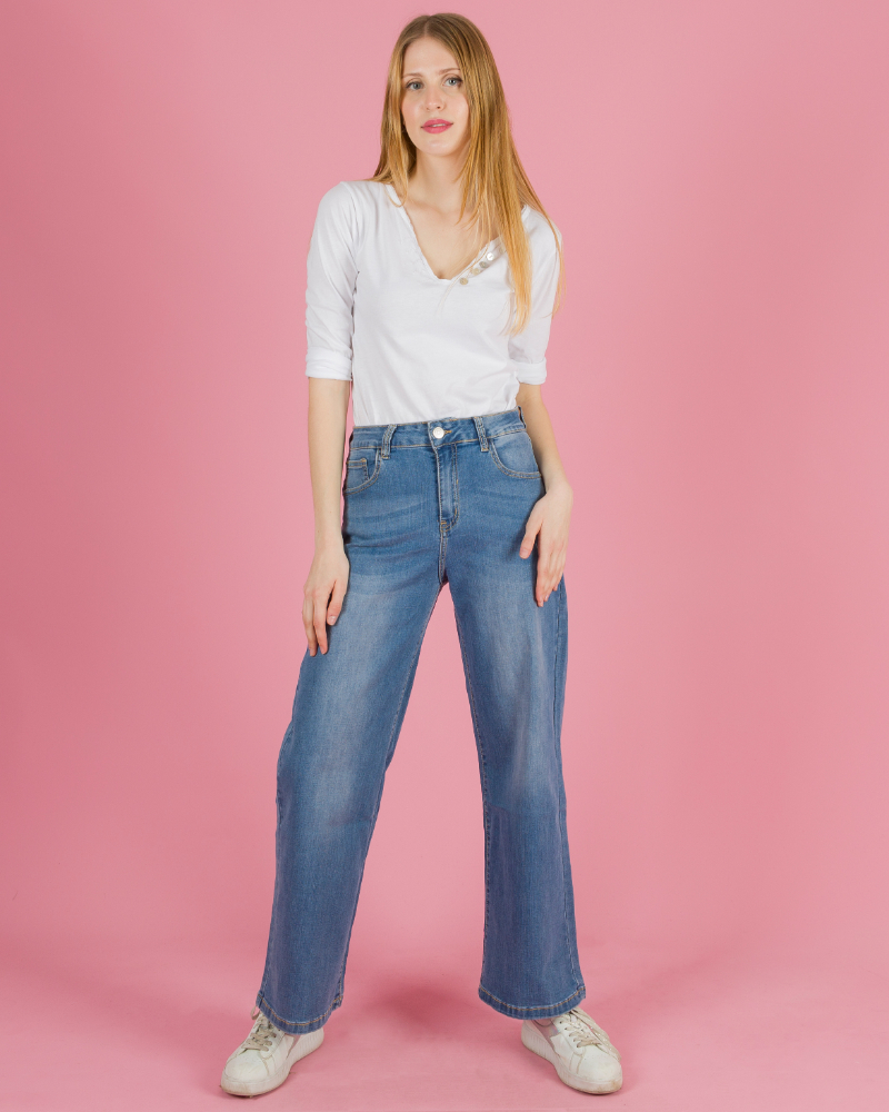F956 Jeans A Palazzo