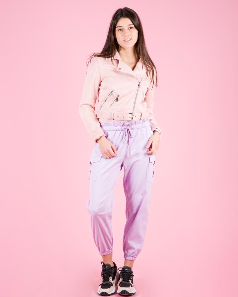 F20335 Pantaloni Elasticizzati A Vita