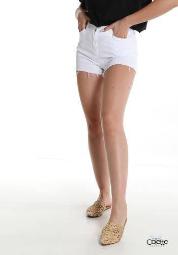 F2136 Pantaloncino Short In Cotone Con Tasche