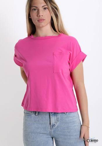 A4810 T-shirt In Cotone Con Tasche
