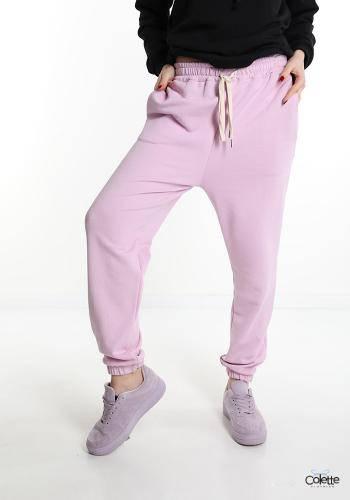 F7114 Pantalone Sportivo In Cotone Con Tasche Con Fiocco